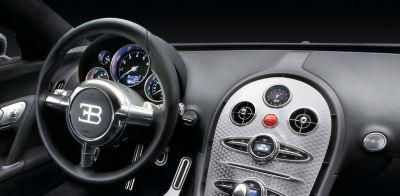 L'intérieur de la Bugatti Veyron 16.4 Pur Sang.